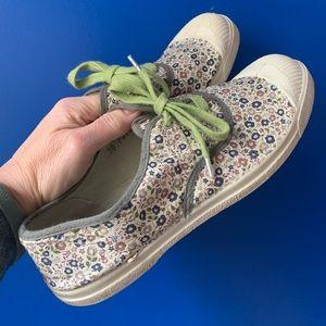 Liberty x Bensimon Shoes - floral art fabric
